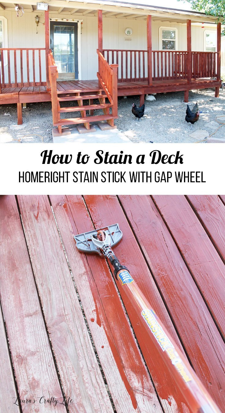 How to stain a deck using the HomeRight Stain Stick with Gap Wheel to make it easier