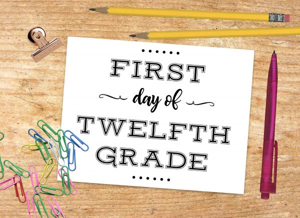 First Day of Twelfth Grade