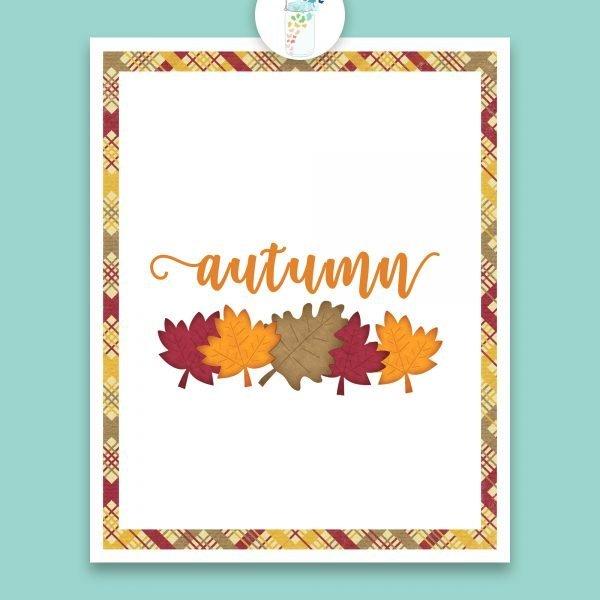 autumn leaves digital printable