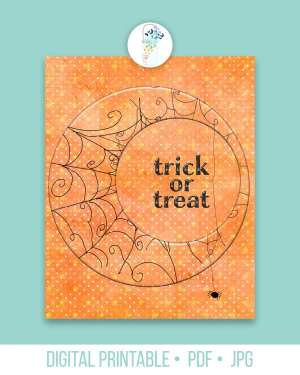 trick or treat digital mockup