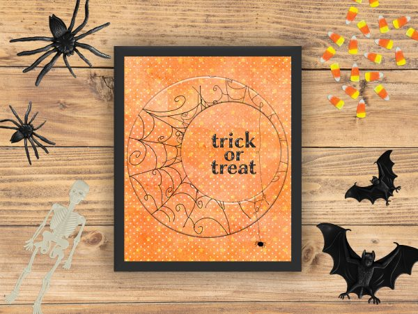 trick or treat halloween mockup