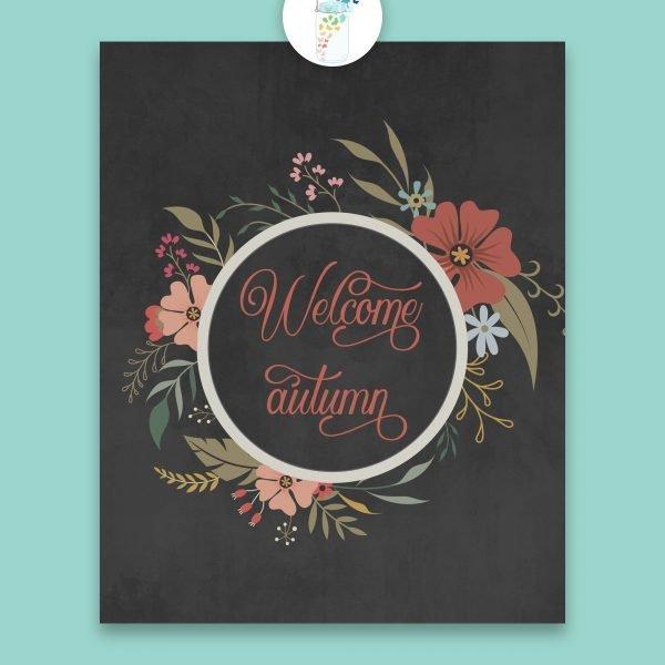 welcome autumn digital printable