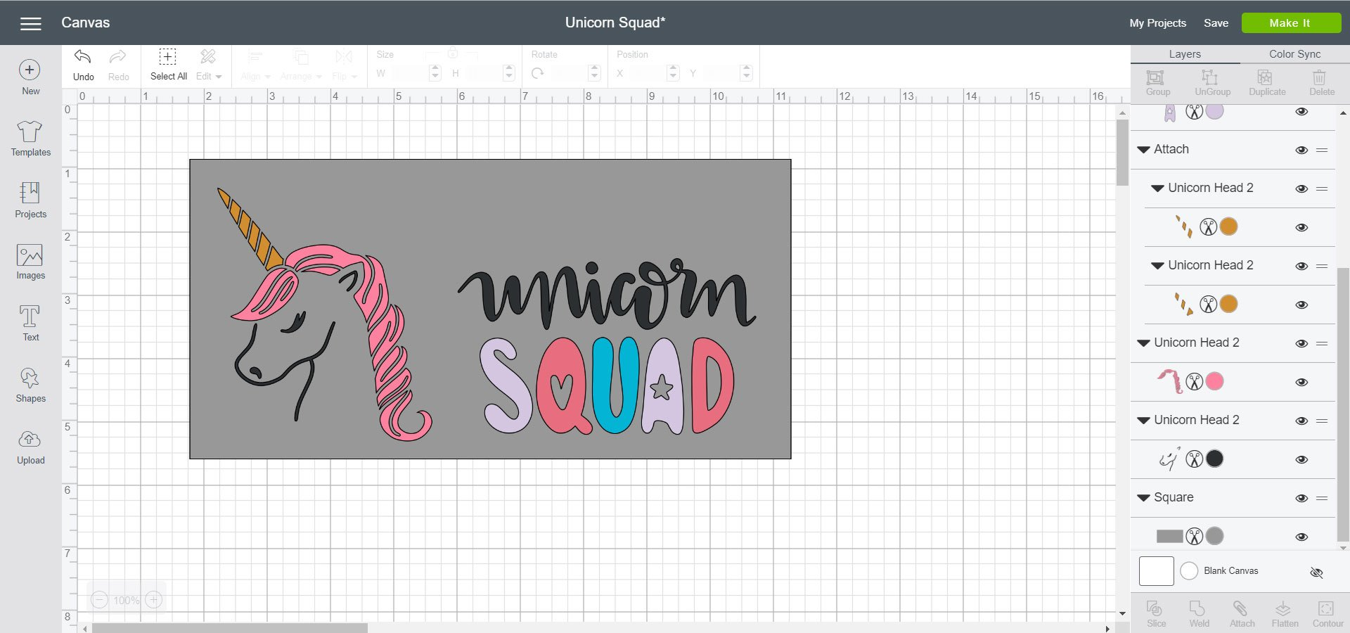 Cricut Design Space File - Unicorn Squad