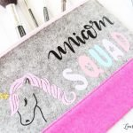 Custom unicorn makeup bag