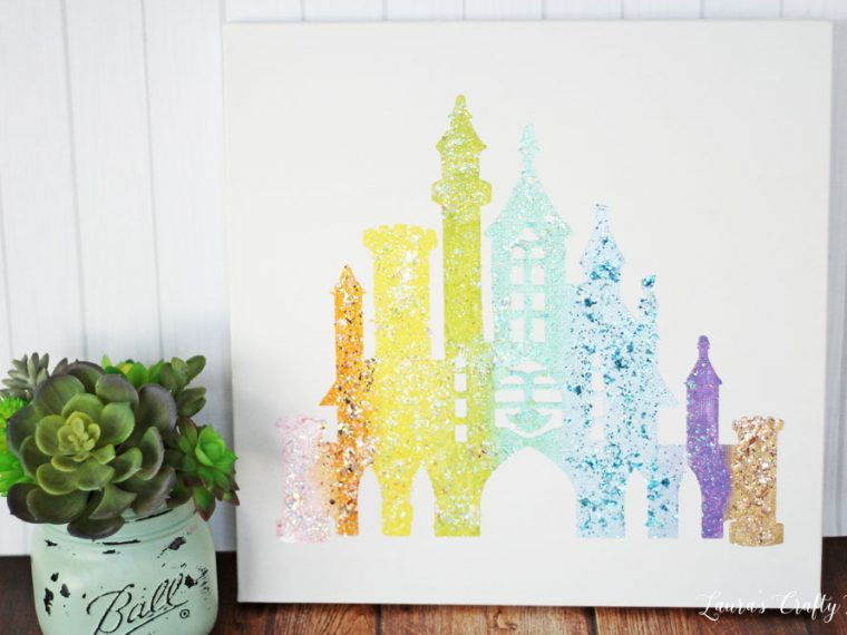 DIY Disney Castle Art