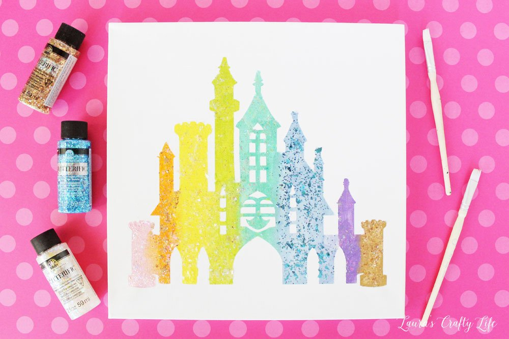 DIY Disney castle canvas art