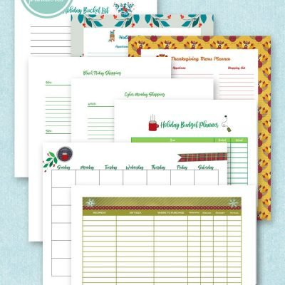 organize your holiday free printables