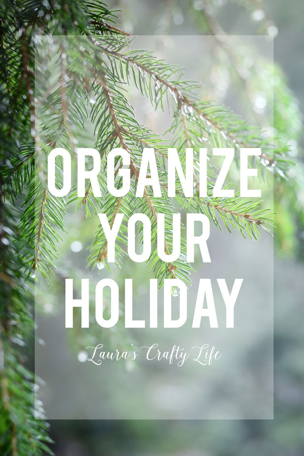 Organize Your Holiday. Create a holiday binder to organize everything holiday related for a relaxing and calm holiday season. Print out a free printable holiday bucket list. #laurascraftylife #organize #holiday #freeprintable
