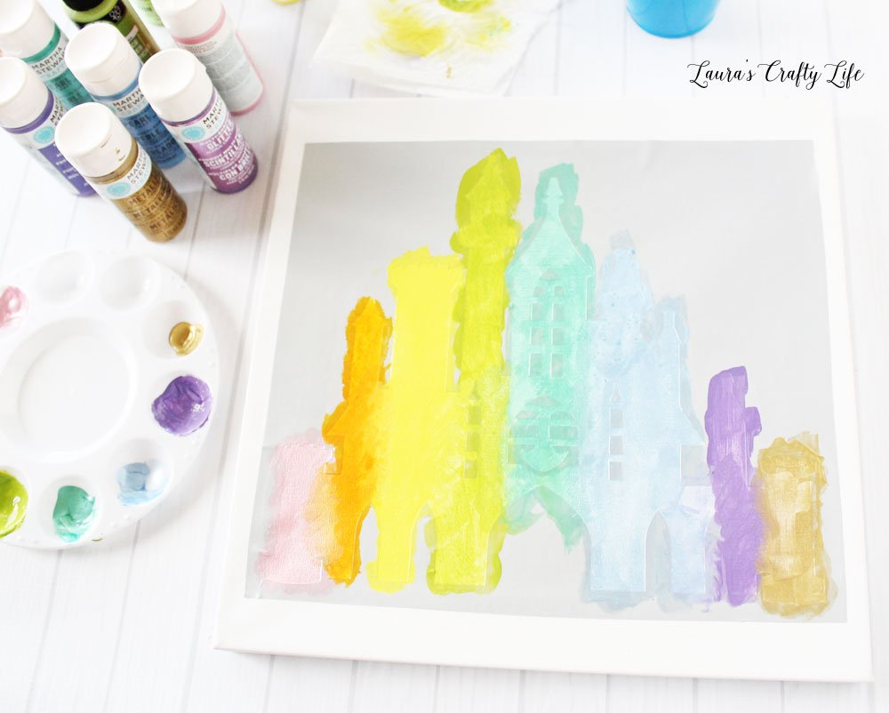 Paint castle using acrylic paints