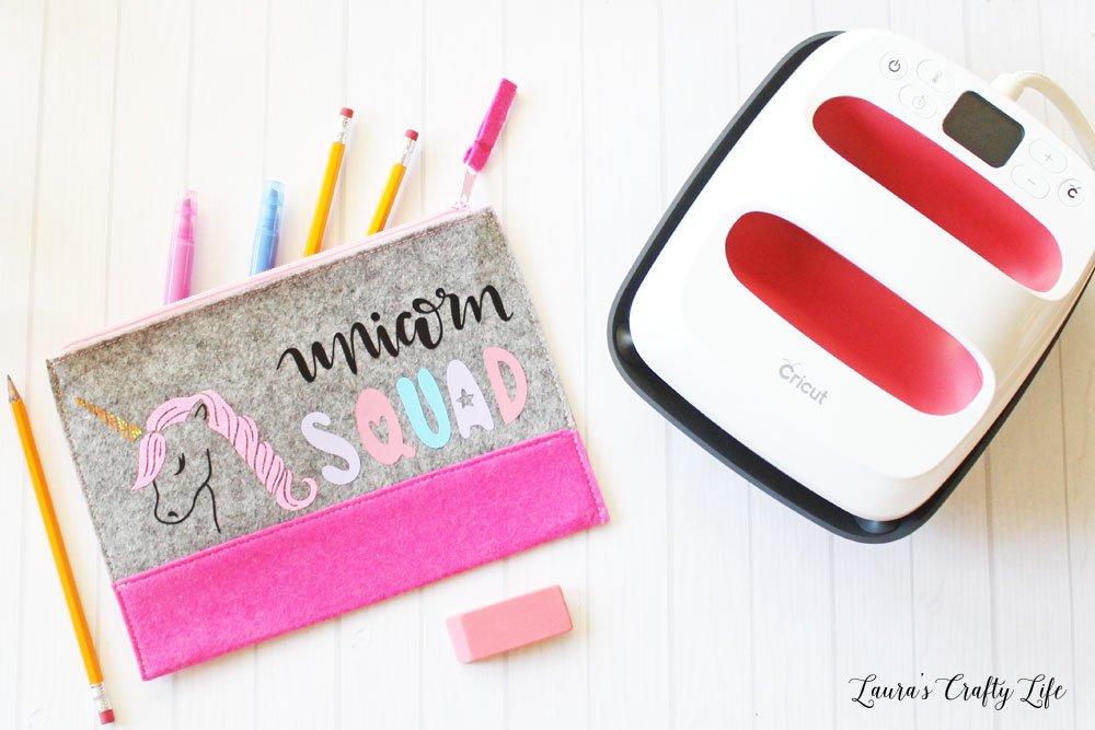 Personalized unicorn pencil pouch