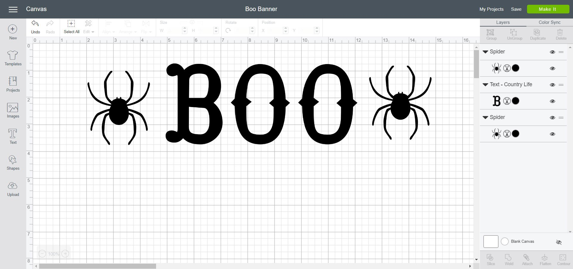 Cricut Design Space - Boo Banner