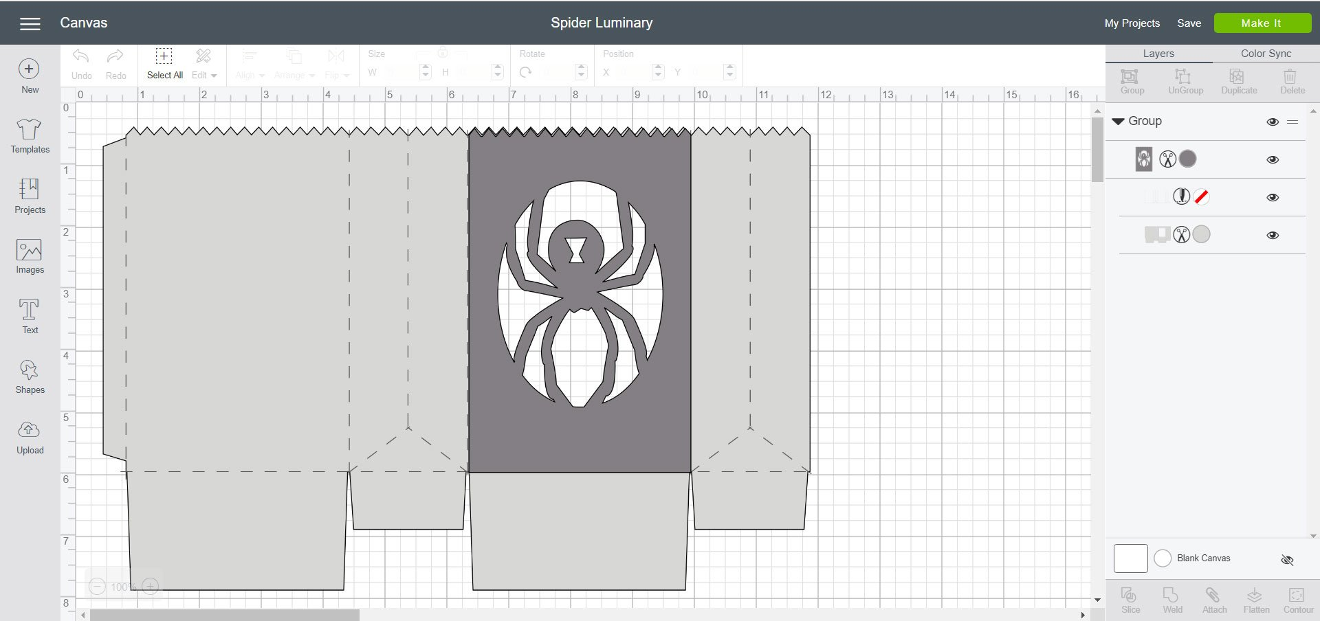 Cricut Design Space - Spider Luminary