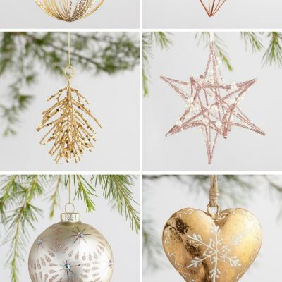 #sponsored by @worldmarket Gorgeous gold ornaments from Cost Plus World Market to deck out your Christmas tree. #laurascraftylife #goldornaments #Christmas
