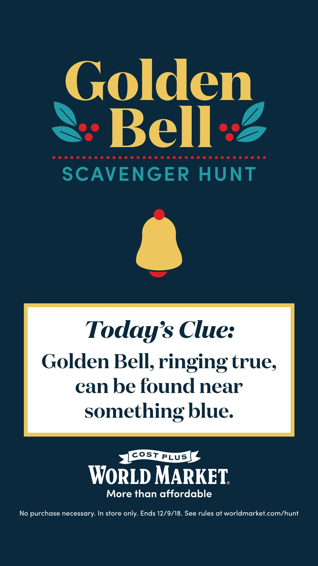 Golden Bell Clue #1 11.1.2018 #ad #sponsored #goldenbell
