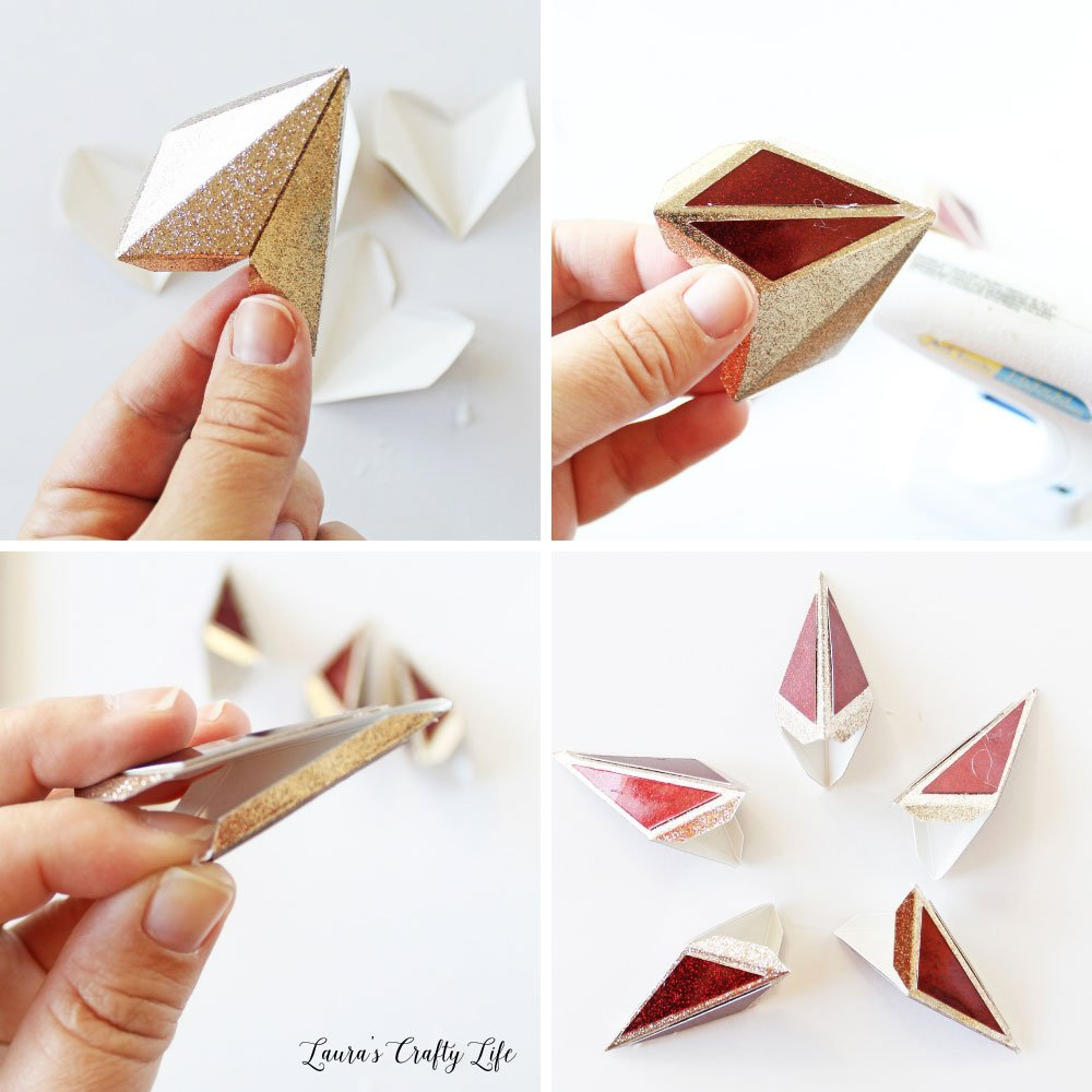 How to assemble the point for the 3D paper star