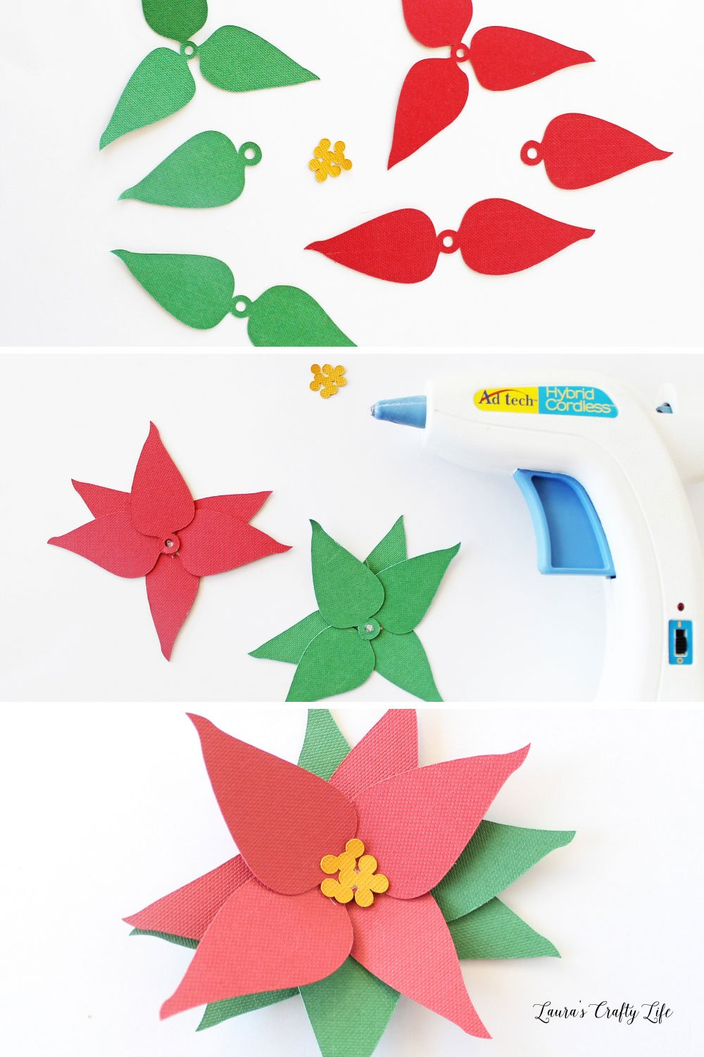 How to create a paper poinsettia