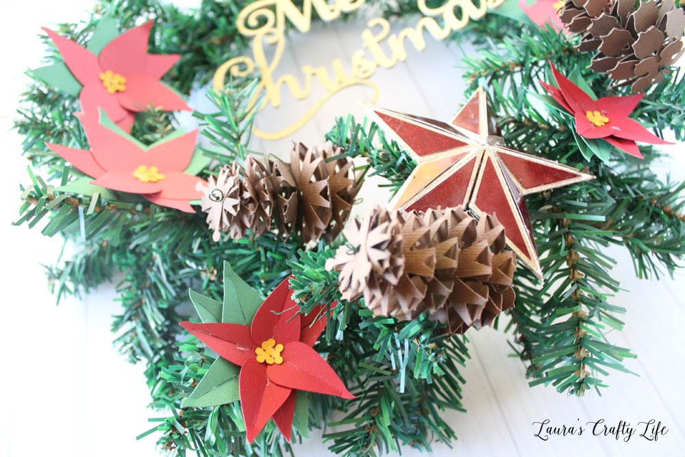 Paper pinecones made with Cricut Maker