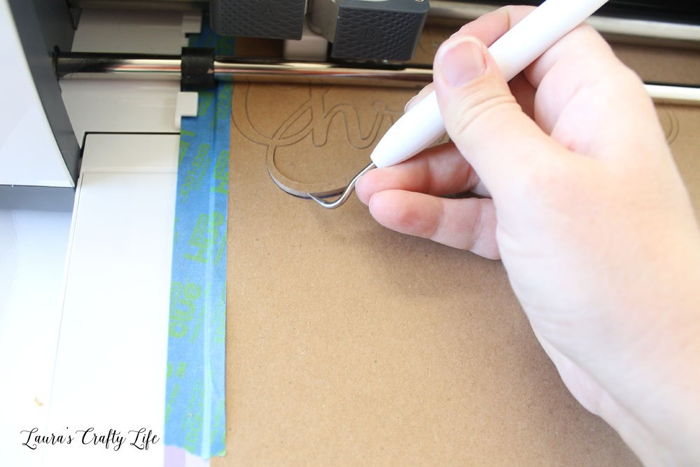 Use weeding tool to see if chipboard is cut all the way through