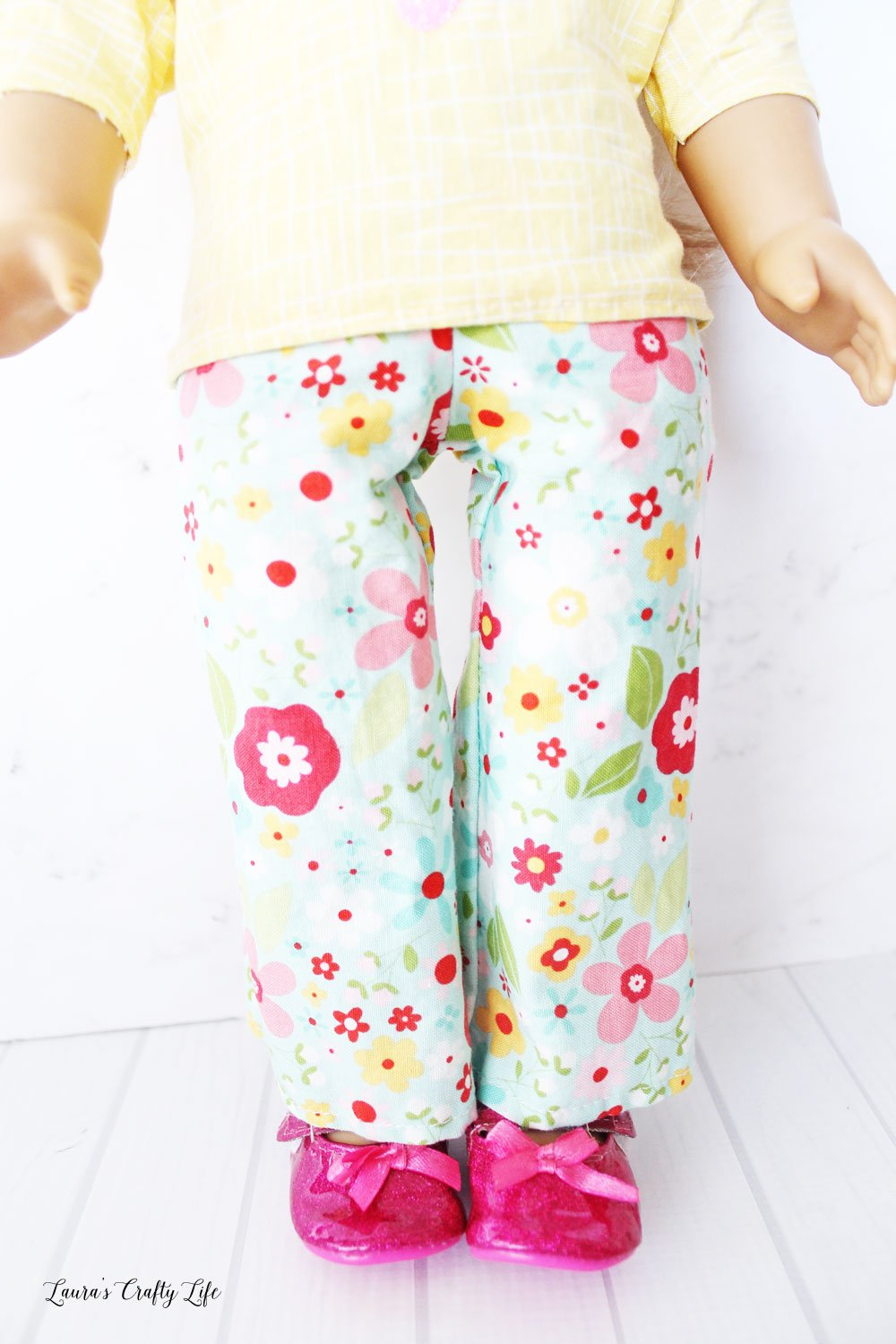 Doll pants made with Cricut Maker