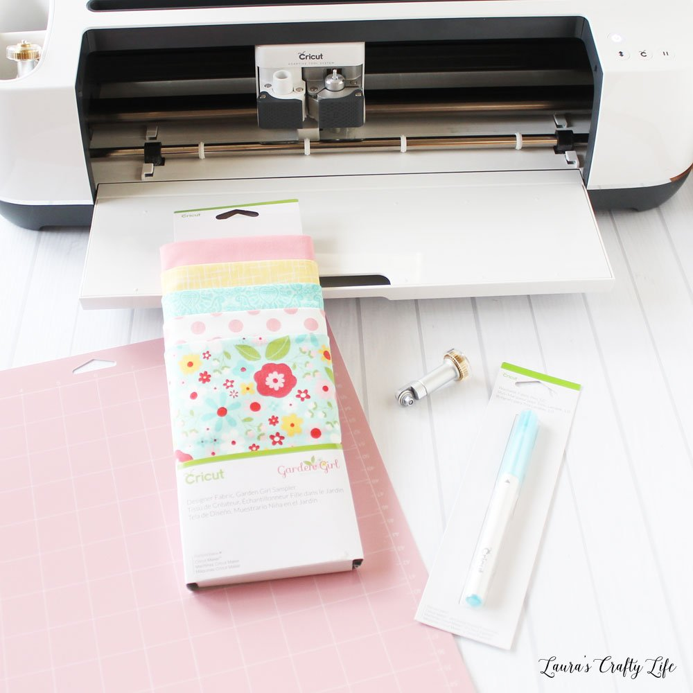 Supplies needed to make doll clothes with Cricut Maker