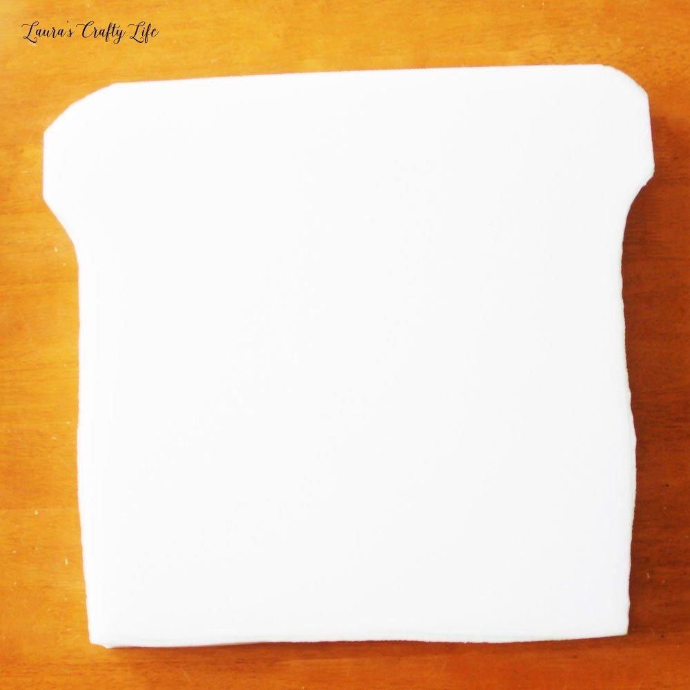 Cut new foam piece for seat cushion