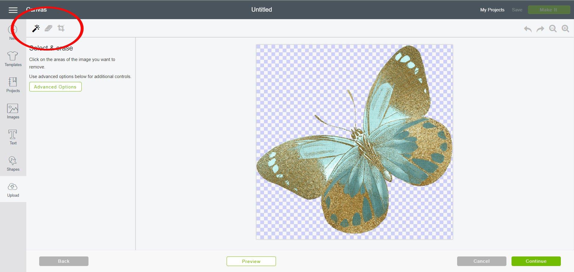 Edit uploaded image in Cricut Design Space