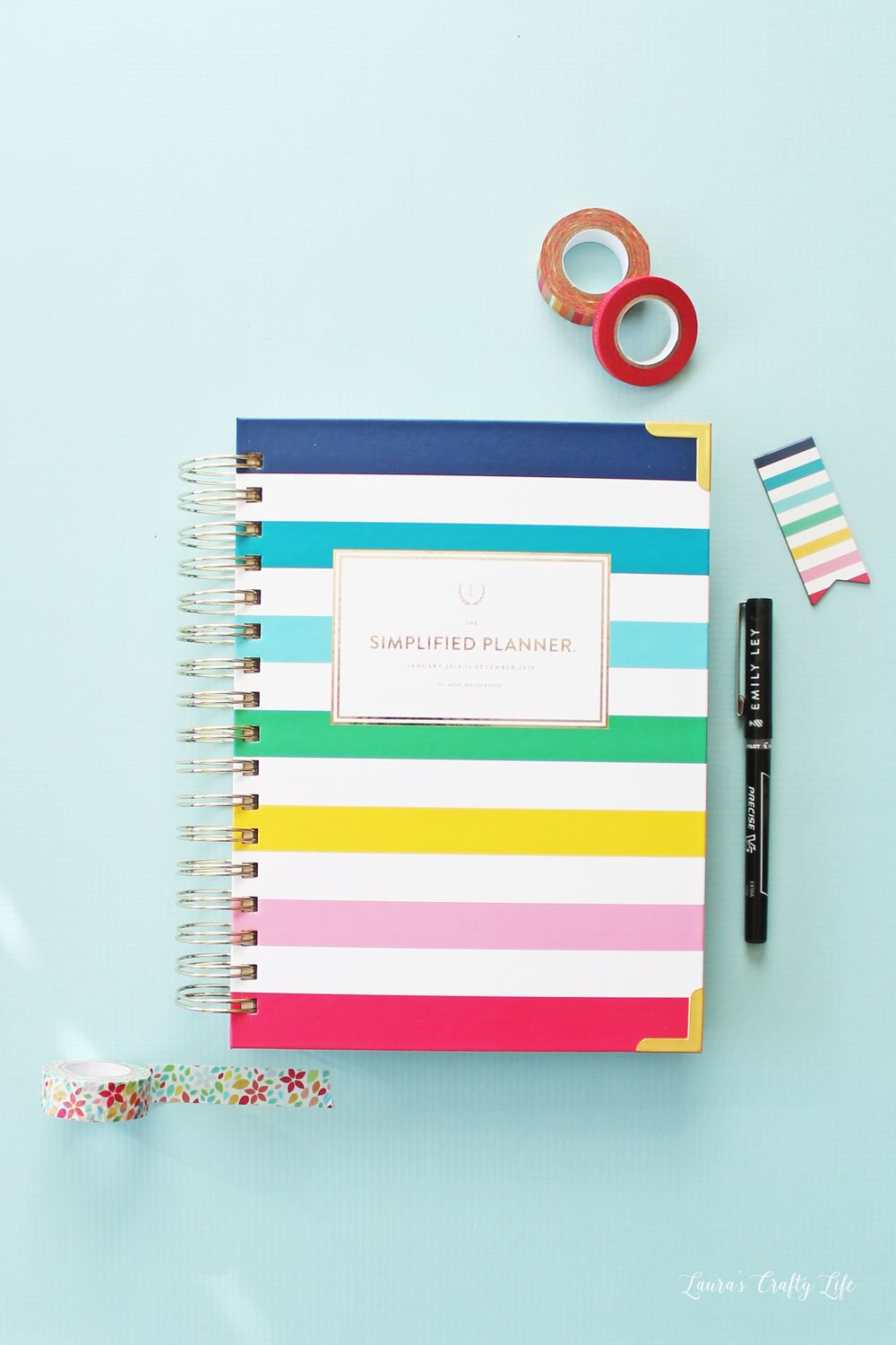 Emily Ley Simplified Happy Stripe Daily Planner