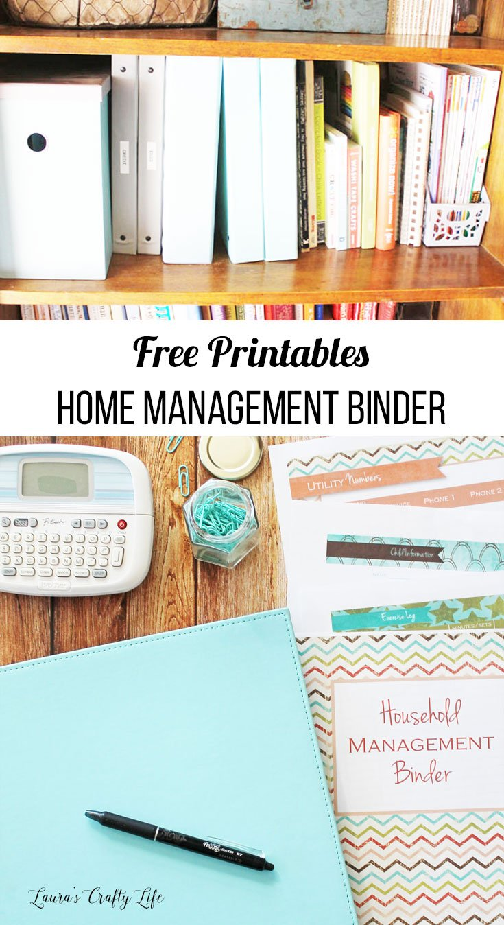 free printables home management binder how to