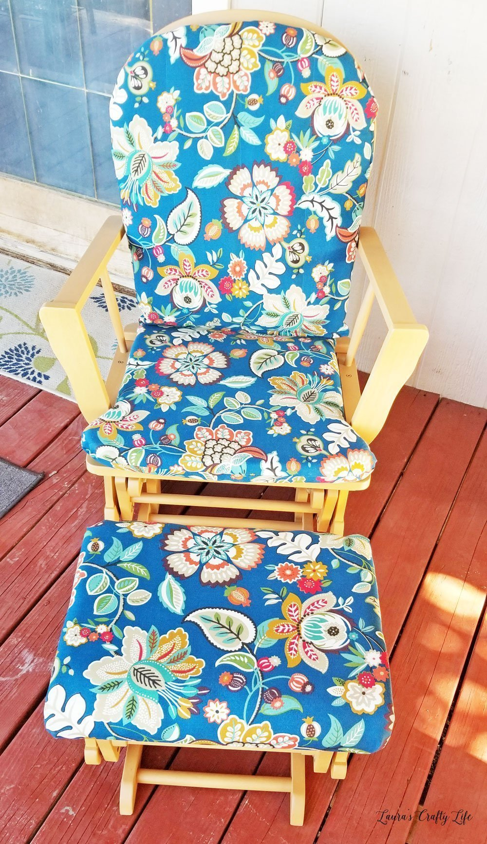 How to reupholster and refinish a wooden glider