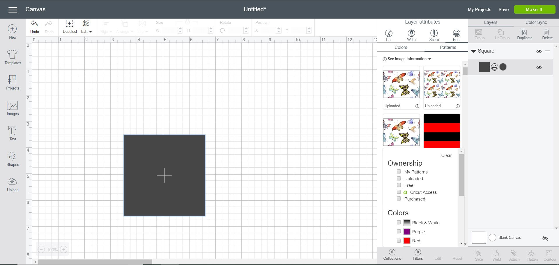 Search for pattern in Cricut Design Space