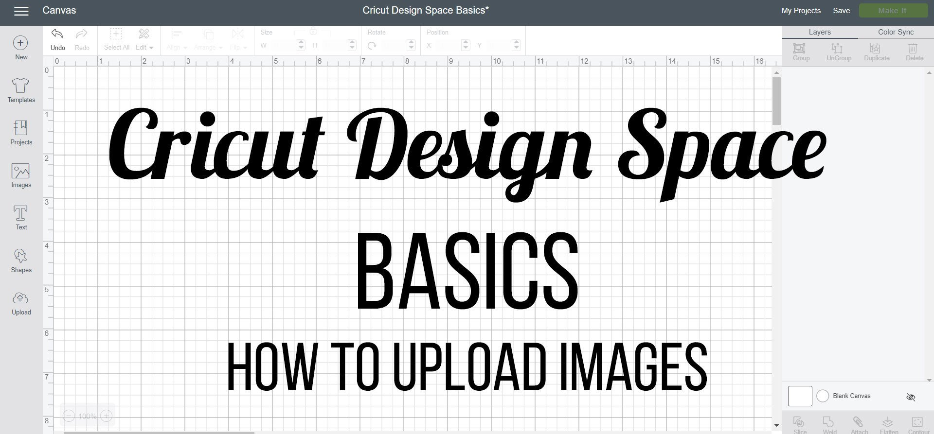 How to Upload Images in Cricut Design Space