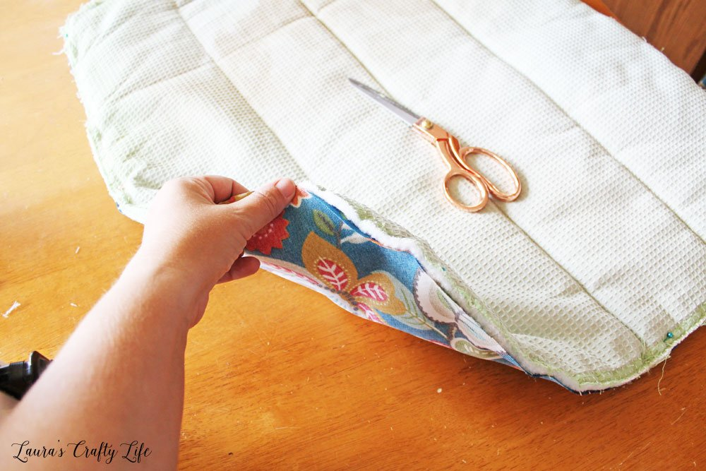 Use original fabric pieces to create patterns for new fabric