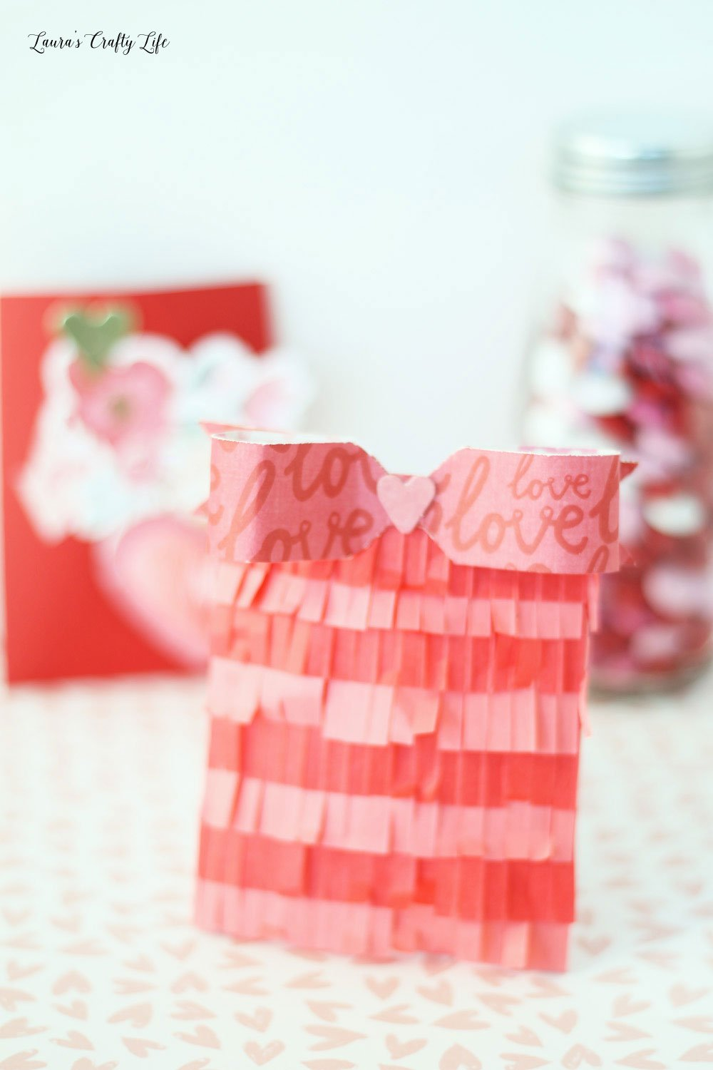 Adorable fringed envelope party favor for Valentine's Day