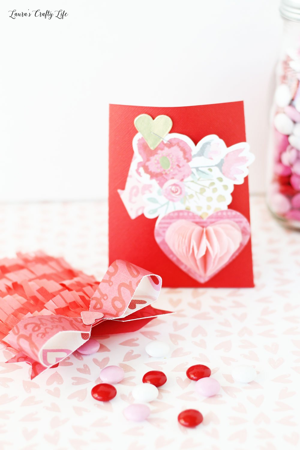 Beautiful Valentine's Day party favors made with the We R Memory Keepers 1-2-3 punch board