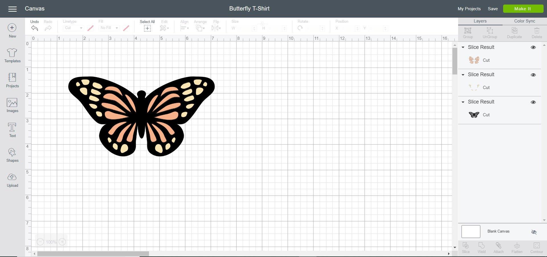 Butterfly T-Shirt design - Cricut Design Space