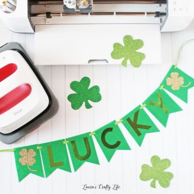 Create St. Patrick's Day banner with Cricut Maker and rotary blade