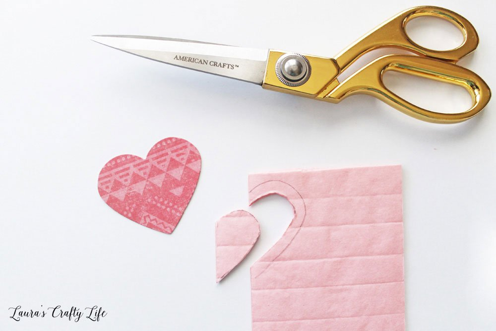 Create a smaller heart using the diecut as a guide