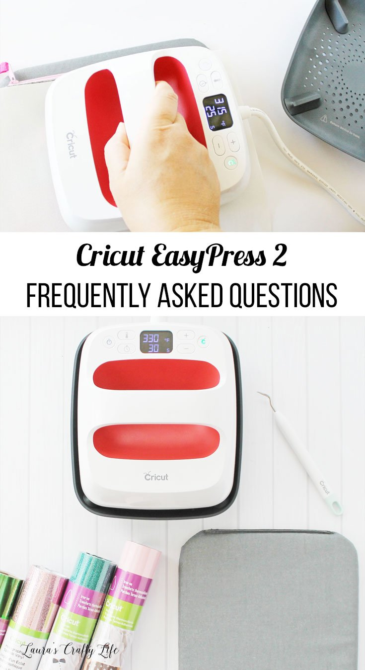 Cricut EasyPress 2. Learn answers to the most commonly asked questions about the Cricut EasyPress 2 and how it compares to standard irons and heat presses. #ad #laurascraftylife #cricut #easypress