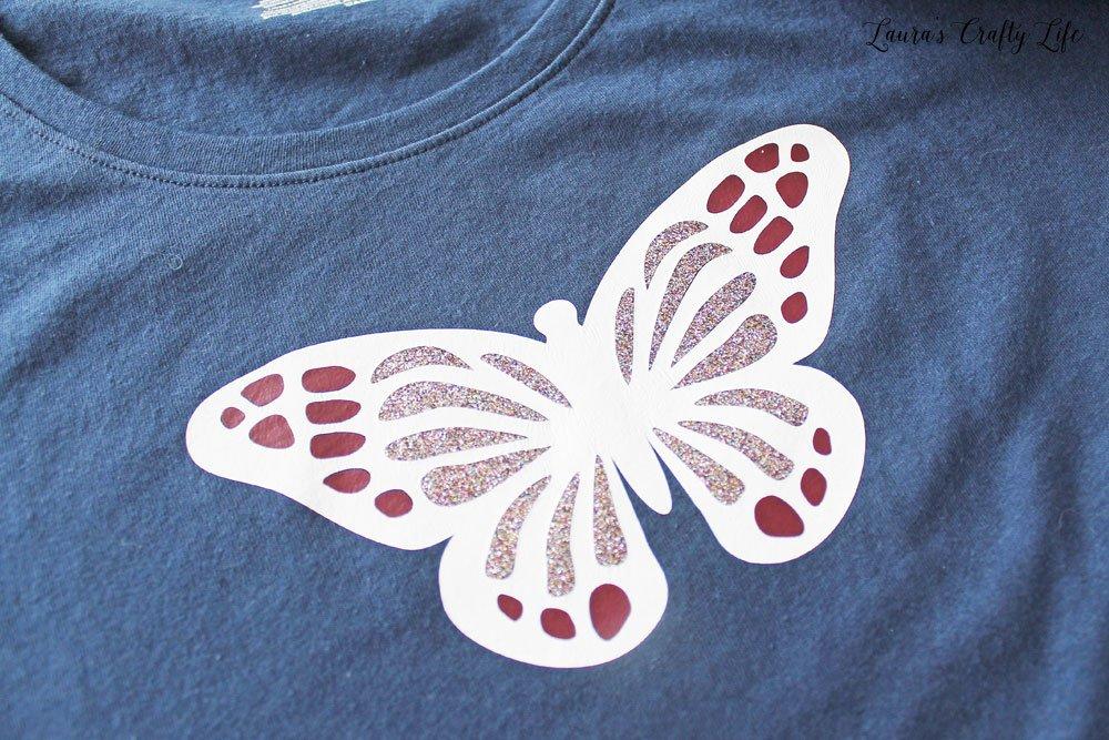 DIY butterfly t-shirt design - Cricut Design Space