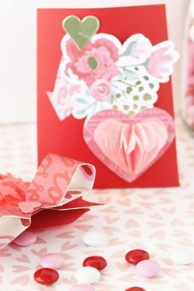 The 1-2-3 punch board makes these Valentine's Day envelopes easy to create