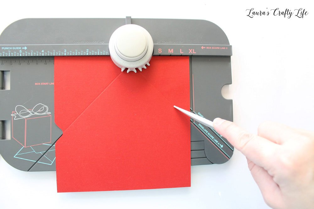 Use 1-2-3 punch board to create an envelope