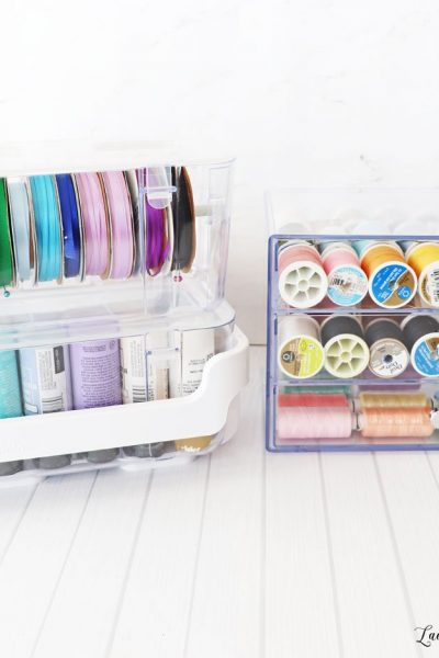 Deflecto caddy organizer and ribbon dispenser and washi storage cube