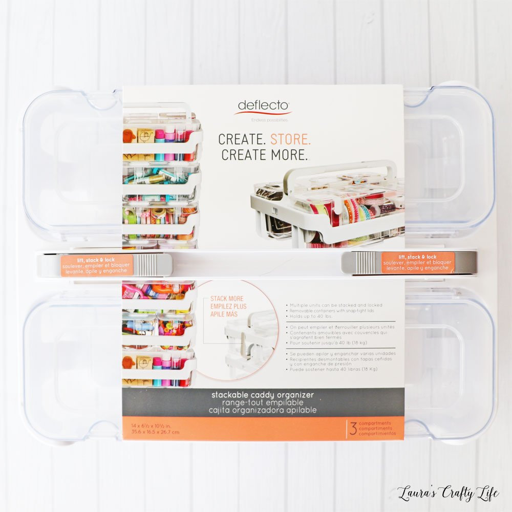 Deflecto caddy organizer with small and large compartments