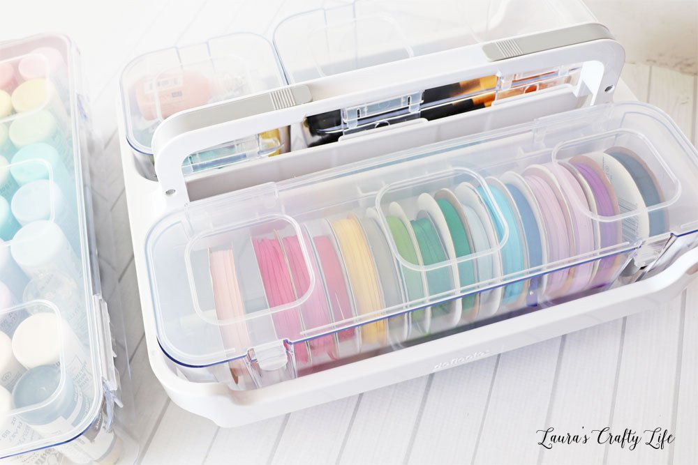 Deflecto ribbon dispenser in caddy organizer