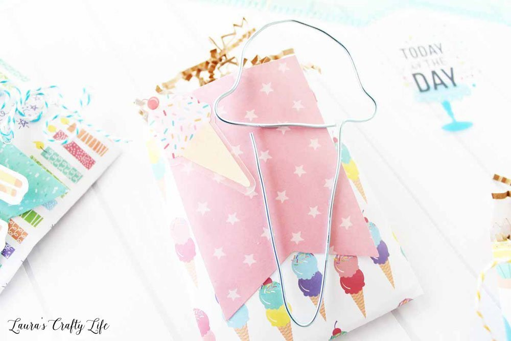 Ice cream birthday treat bag