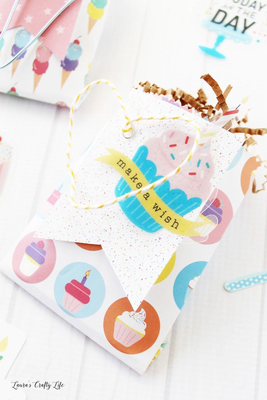 Make a wish birthday treat bag