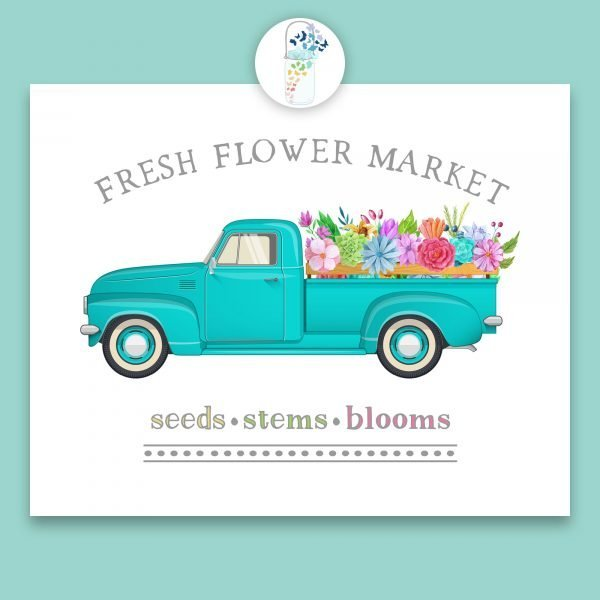 fresh flower market digital art