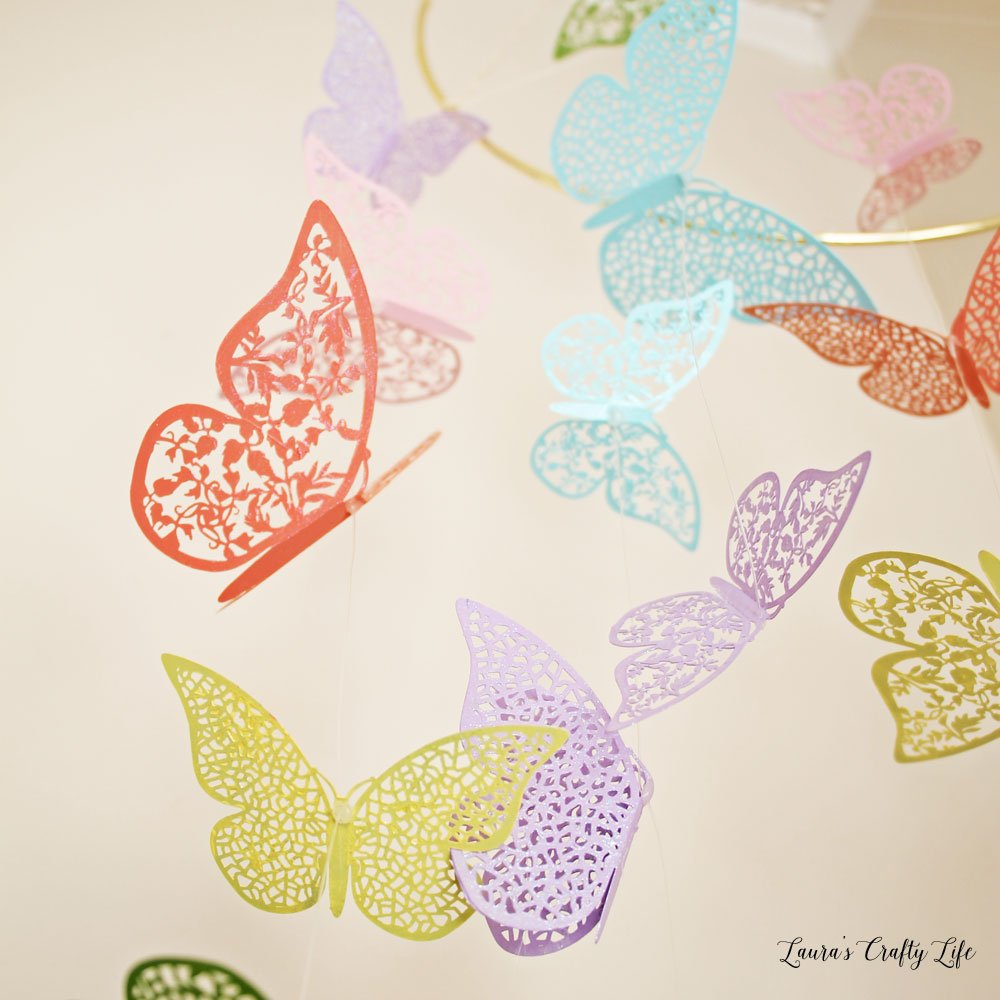 Shimmering butterflies with Dragonfly Glaze