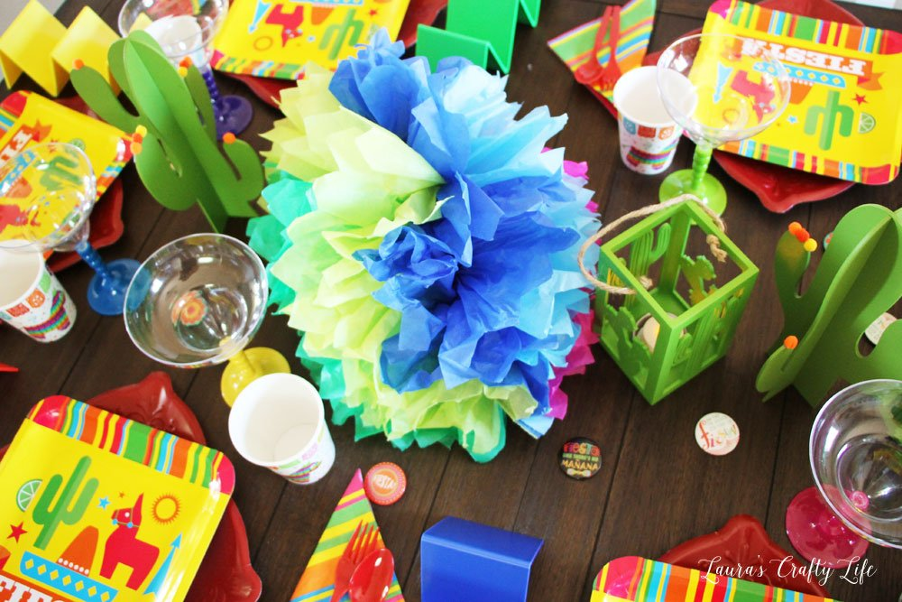 Centerpiece decor for taco party