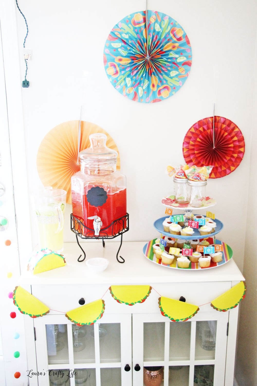 Fiesta Taco Party dessert and drink table ideas